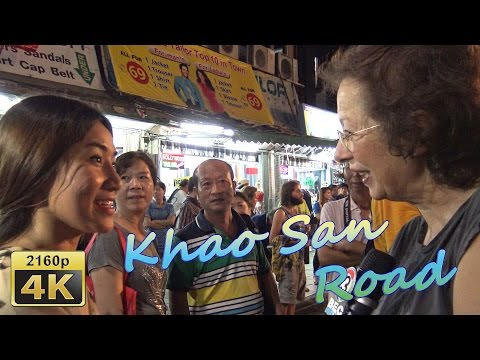 An Evening in Khao-san Road in Bangkok - Thailand 4K Travel Channel