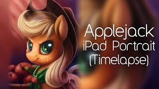 Applejack iPad Portrait (Timelapse Painting)