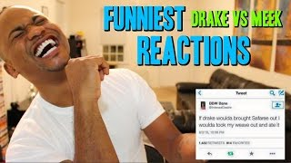 Funniest Drake VS Meek Mill Tweets | REACTION to Diss Tracks & OVO FEST 2015
