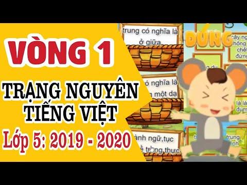 Tiếng Việt | Trạng Nguyên Tiếng Việt Lớp 5 Vòng 1 | Năm Học 2019 – 2020 | Kênh Tiểu Học