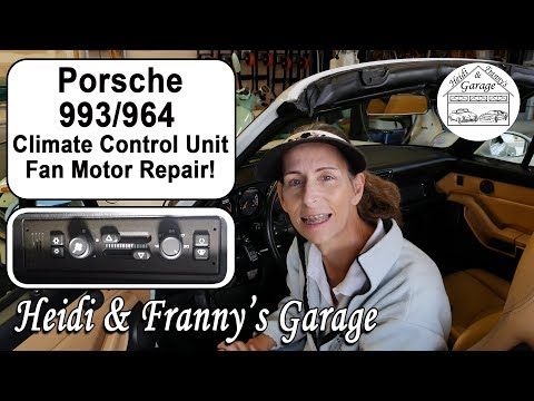 Porsche 993/964 Climate Control Unit Fan Motor Repair! (DIY)