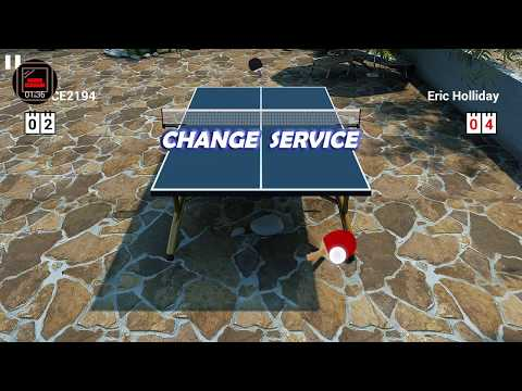 Virtual table tennis - multiplayer | single player arcade