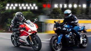 La BELLA vs la BESTIA! (Ducati 959 vs BMW K1300r)