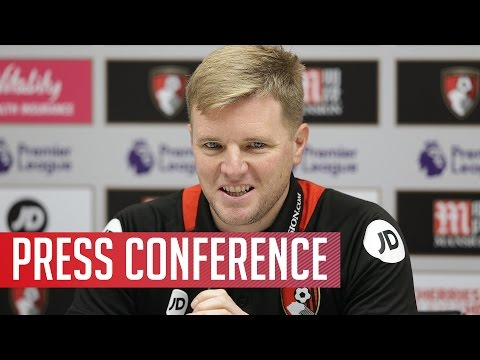 Press conference: Eddie Howe speaks to the press ahead of the game against Manchester United