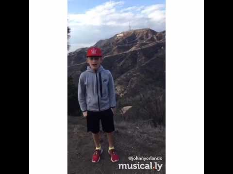 #Hello from the Hollywood sign😜 #muservoice (Johnnyorlando) (Musical.ly)