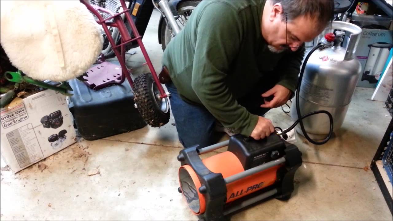 propane torpedo shop heater repair test youtube. Black Bedroom Furniture Sets. Home Design Ideas
