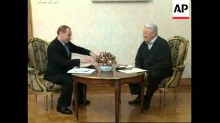 RUSSIA: PM PUTIN & PRESIDENT YELTSIN DISCUSS O-S-C-E
