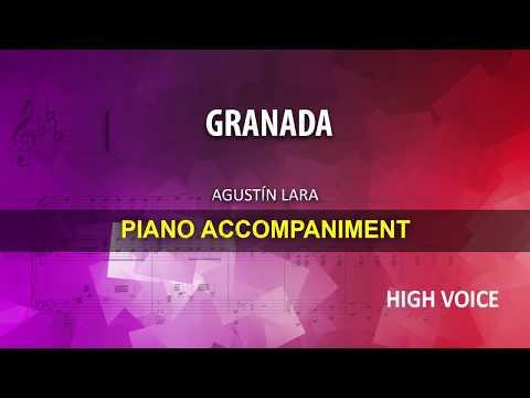 GRANADA / Lara: Karaoke + Score guide / High voice