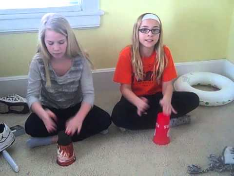 Steffi Hoying and Cora Stammen cup song