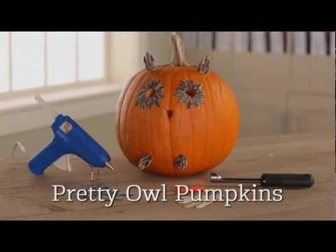 How To Make An Owl Halloween Pumpkin