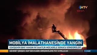 eskişehir de mobilya imalathanesinde yangın