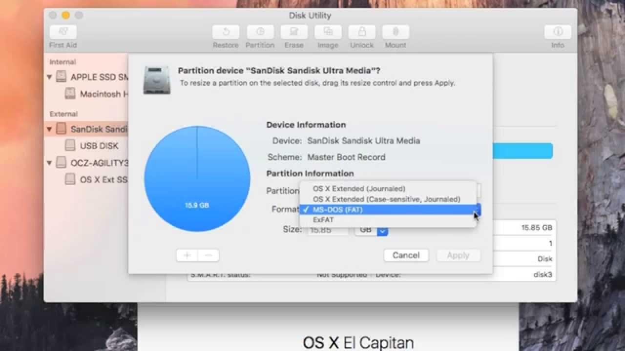 bootable disk mac el capitan