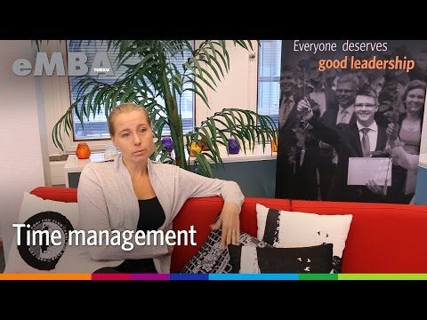 EMBA Turku Alumna - Tips on time management