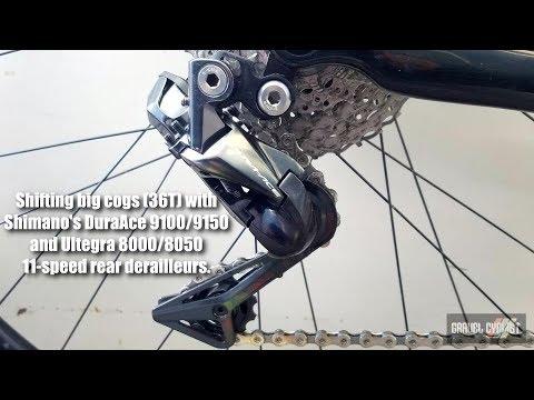 Shifting big gears with Shimano Dura-Ace 9100/9150 & Ultegra 8000/8050 Derailleurs