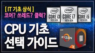 AMD 인텔 CPU 선택 가이드 코어/ 클럭/ 쓰레드 …