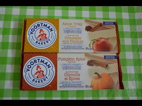 Voortman Bakery Pumpkin Spice & Apple Crisp Wafers Taste Test