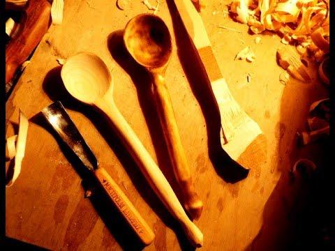 Крестьянская ложка. Деревянная ложка своими руками, процесс изготовления. woodcarving, wooden spoon