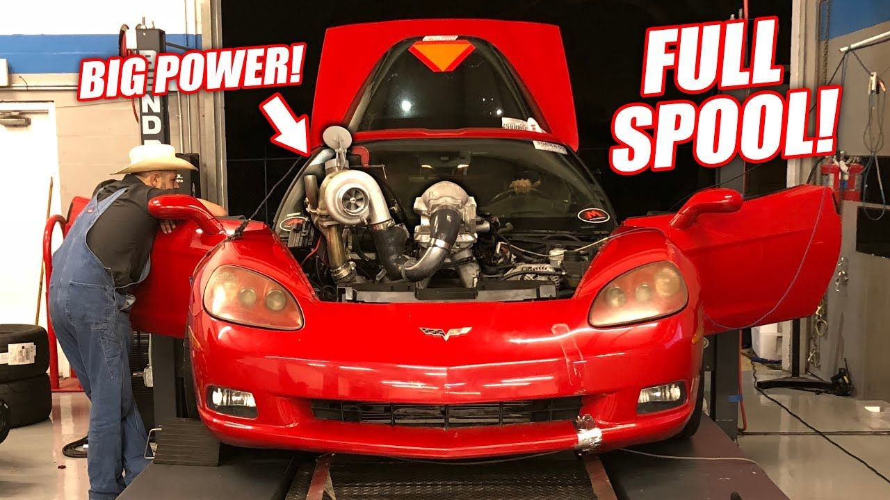 The TURBO Auction Corvette Hits the DYNO! Will the Truck Engine Survive?