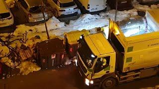 Camión de la basura de Madrid recoge residuos sin reciclar