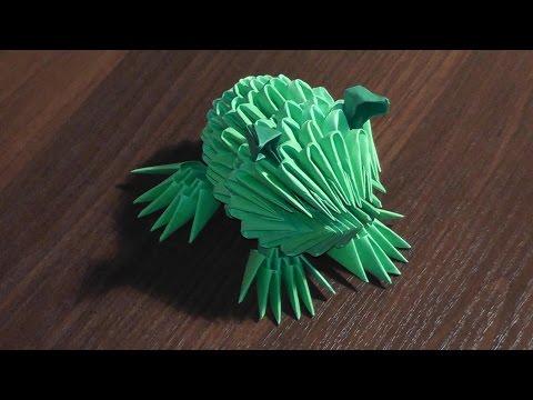 Модульное оригами лягушка (жаба) мастер класс