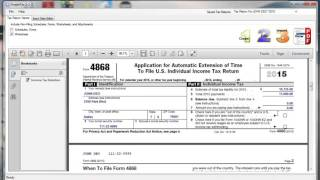 how to estimate total tax liability for form 4868