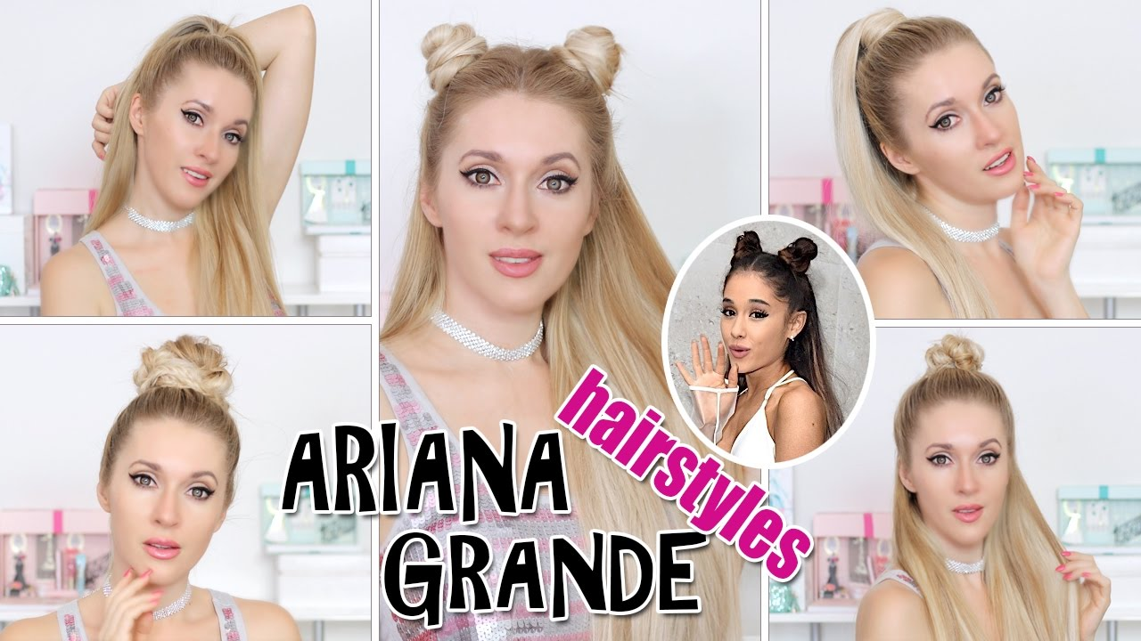 TOP 5 Ariana Grande hairstyles in 2,5 mins ★ BACK TO SCHOOL, everyday,  party EASY CUTE hair tutorial