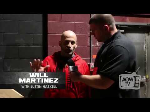 Will Martinez backstage interview