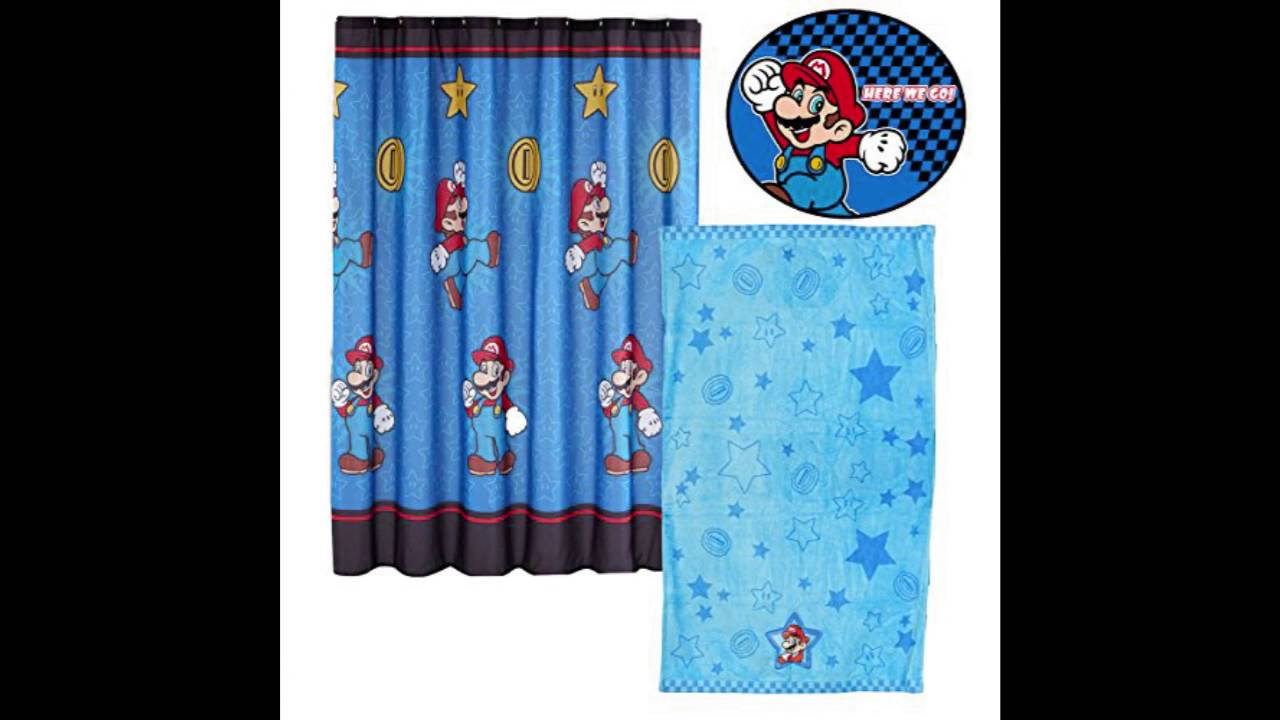 Super Mario Brothers Bathroom Set Nintendo Simply the Best Shower Curtain  Towel and Bath Mat