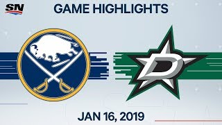 NHL Highlights | Sabres vs. Stars – Jan. 16, 2020