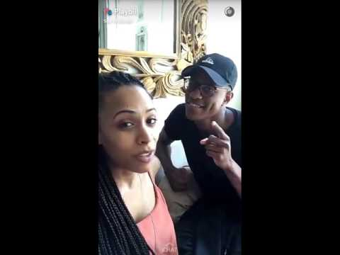 Playbill snapchat story // Nicolette Robinson 54 Below Show