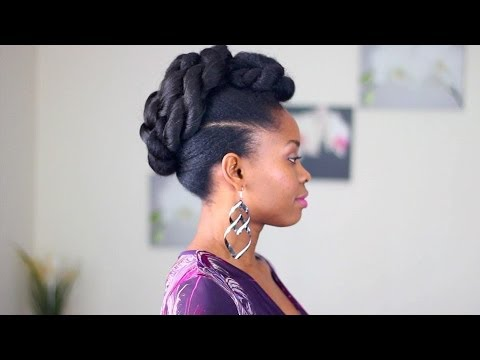Coiffure Cheveux Cr 233 Pus Rolled Up Twist Youtube