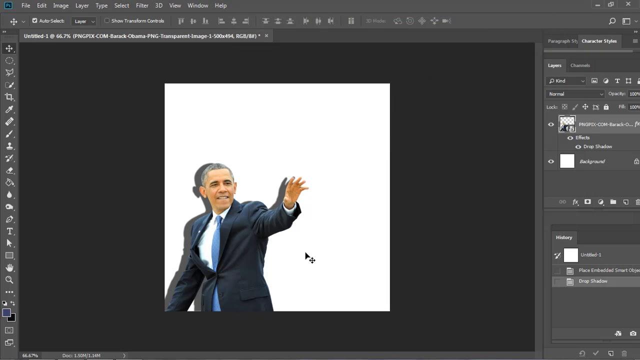 Tạo bóng cho đối tượng trong Photoshop