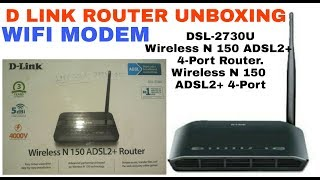 D Link ROUTER DSL 2730U Unboxing Review Setup Wifi and Installation