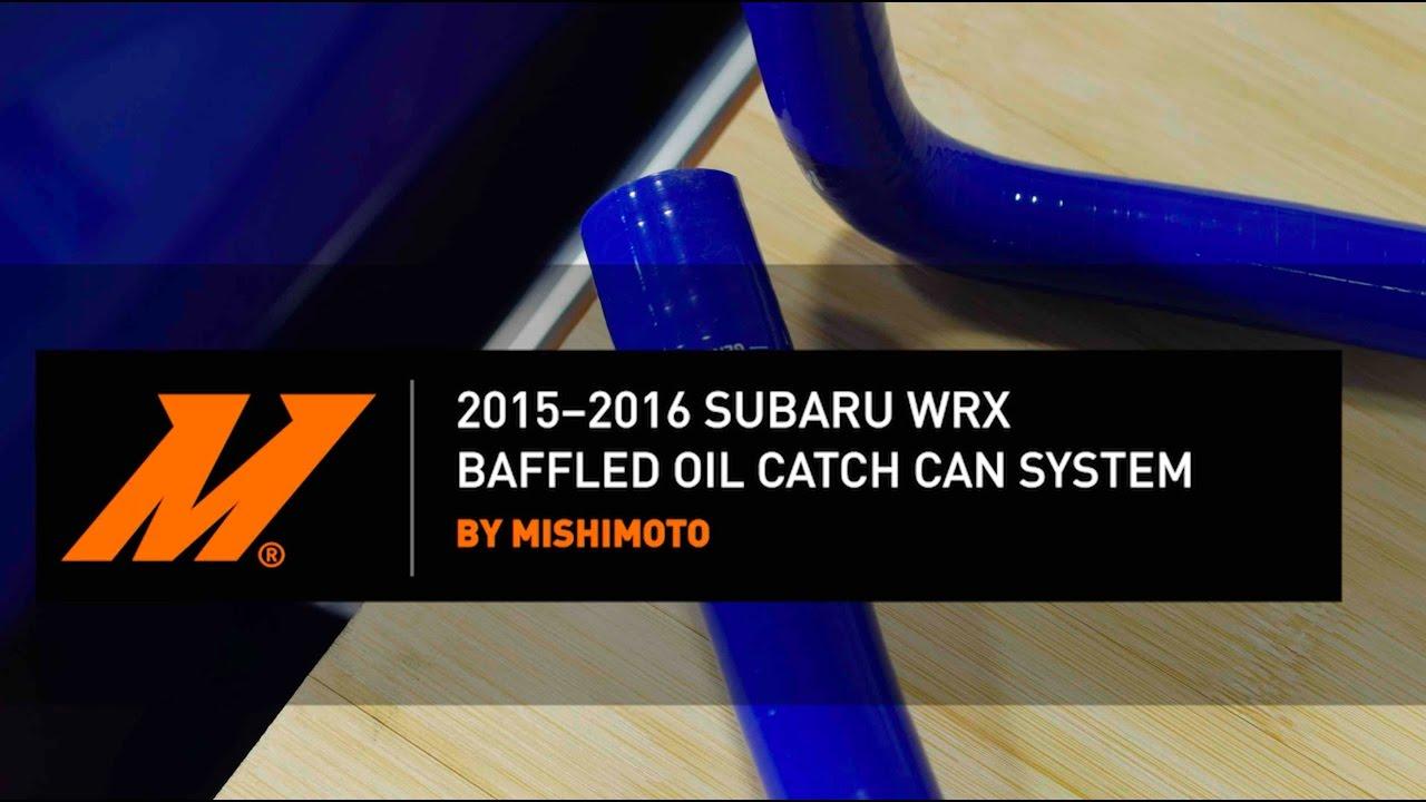 Mishimoto MMBCC-WRX-15BK Subaru WRX Baffled Oil Catch Can System Black 2015-2016