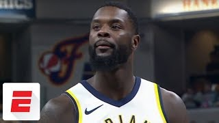Lance Stephenson's shoe falls apart in middle of Pacers' game vs. Lakers | ESPN