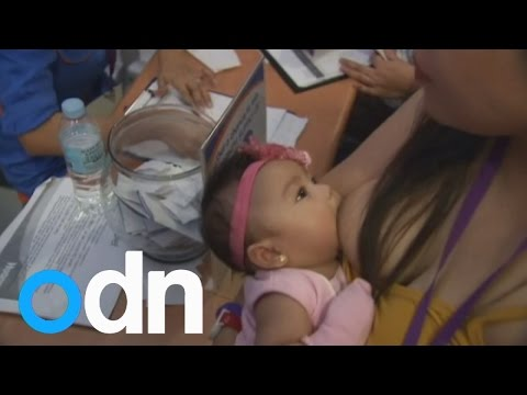 Mass Breastfeeding Session Takes Place In Manila