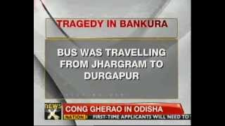 West Bengal: Passenger bus falls in river - NewsX