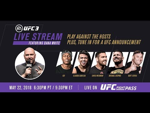 EA SPORTS UFC 3 Live Stream with KSI & UFC Champs, Hosted by