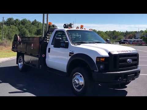 2008-ford-f-450-mechanics-truck-flatbed-air-compressor-for-sale