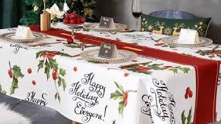 북유럽 크리스마스 방수 테이블보 식탁 패브릭 커버