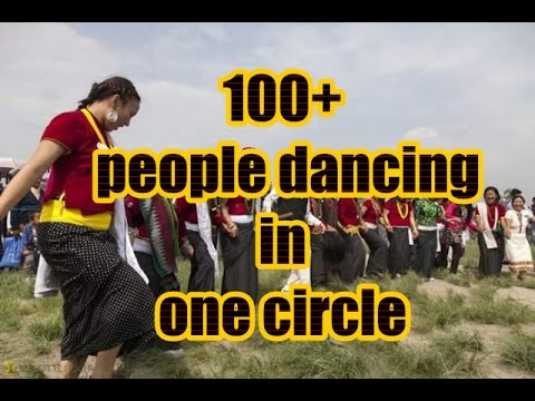 Amazing Culture of Nepal (100+ people dancing in one circle)