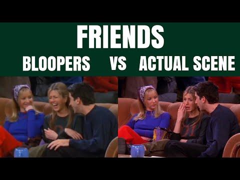 friends | bloopers vs. actual scene