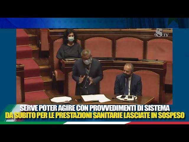 Il QT del Sen.Zaffini al Min.Speranza sull'arretrato di prestazioni sanitarie causato dall'emergenza