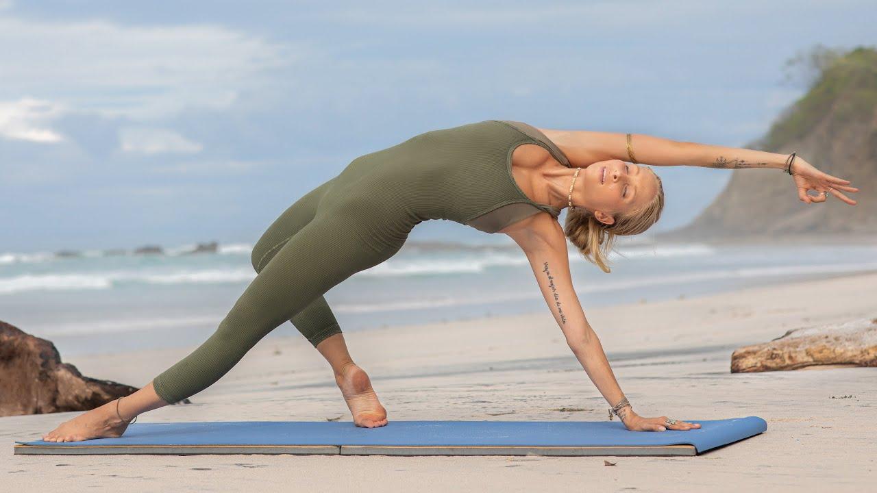Download 30 Min Morning Yoga Flow | Full Body Yoga For Power, Peace, & Grace