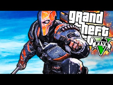 DEATHSTROKE !! EL DEADPOOL DE DC COMIC !! ASALTO A LA BASE MILITAR GTA V MOD PC Makiman