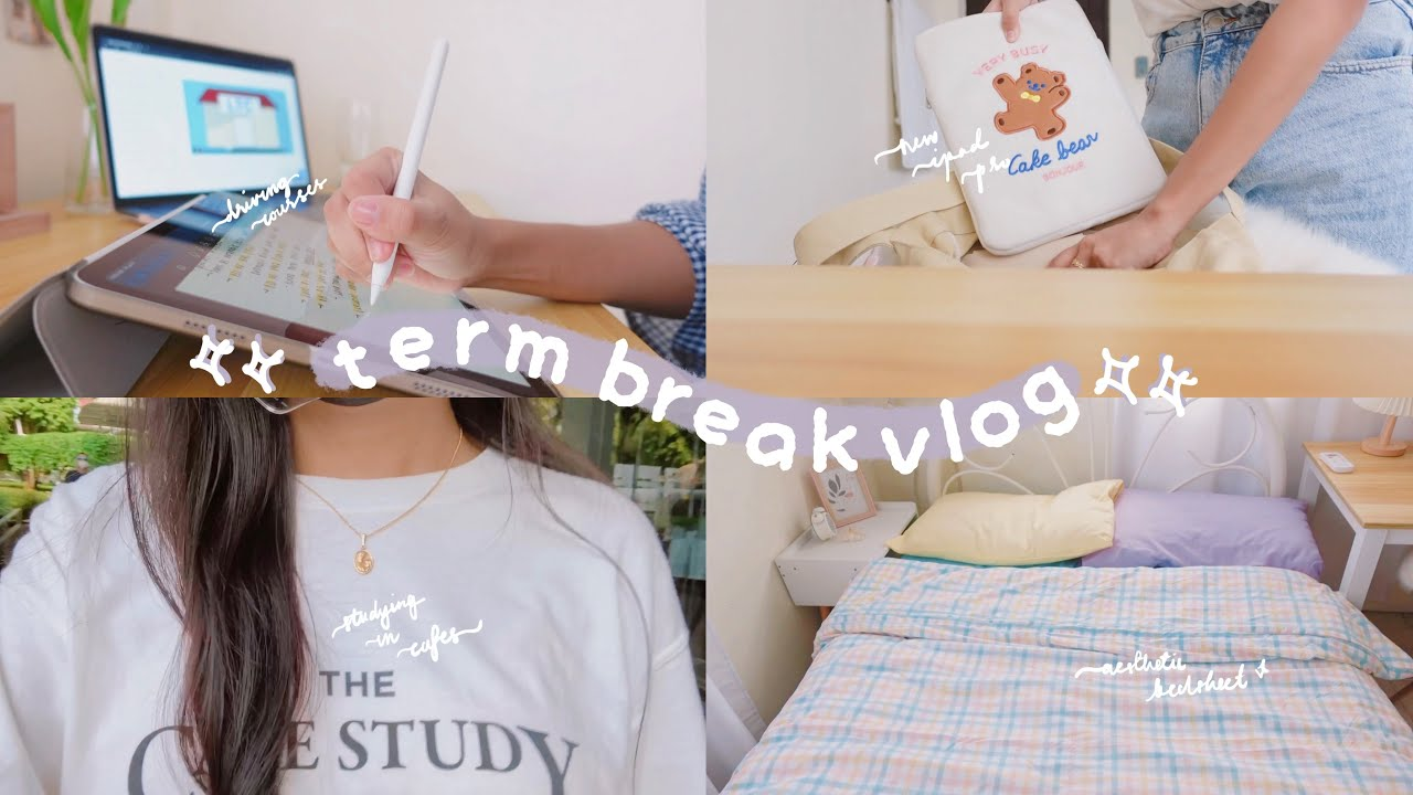 term break vlog (but I'm still studying): driving lessons, playing badminton, studying in a cafe ☂️