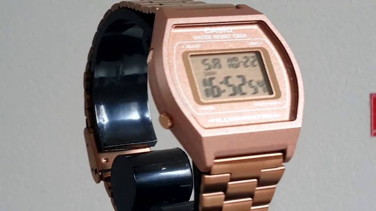 d2bac20ecfb Relógio Feminino Digital Casio Retrô Rose B640wc5adf - YouTube