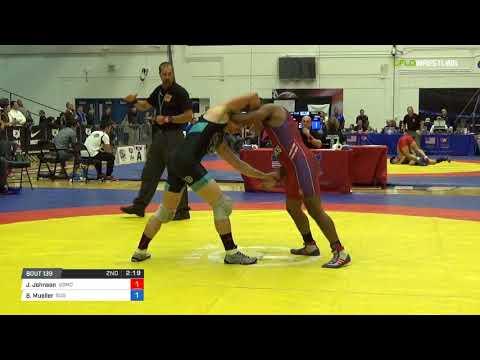 Greco-Roman 72 3rd Place - Jamel Johnson (USMC) vs. Brandon Mueller (505 )