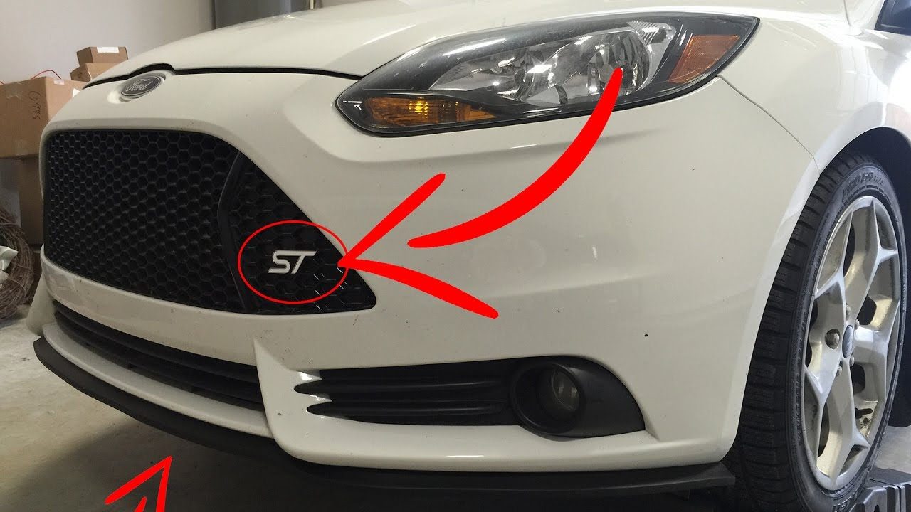 How To Install Ez Lip And Vinyl Wrap Emblems On Focus St