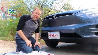No-Hole Tesla Model X Front License Plate Installation Kit